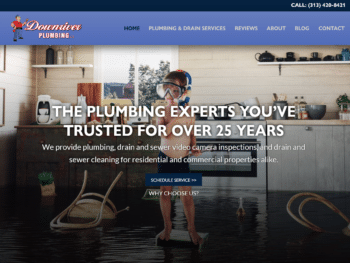 Downriver Plumbing, LLC Launches New Website